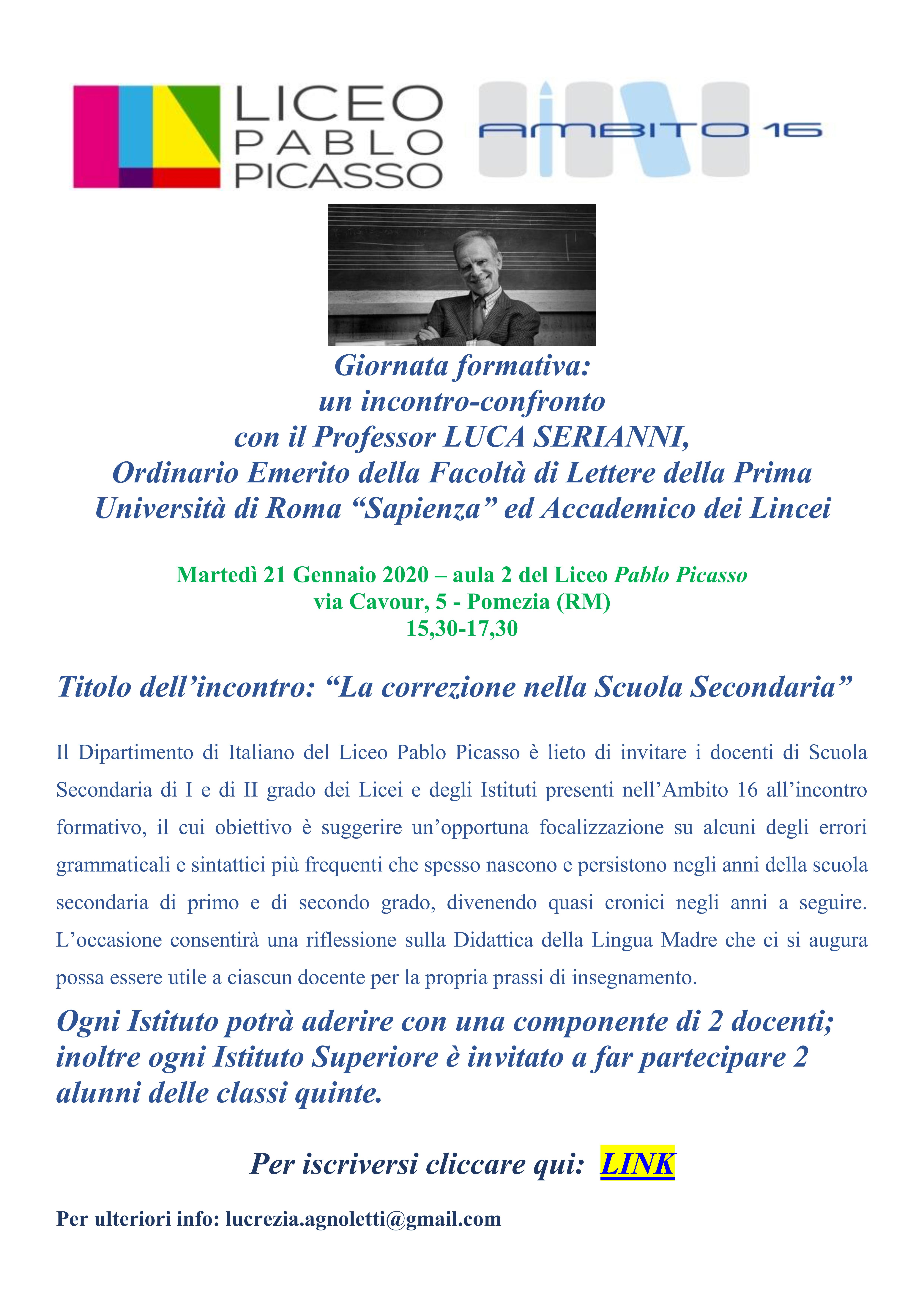 Locandina incontro SERIANNI 21-01-2020 001